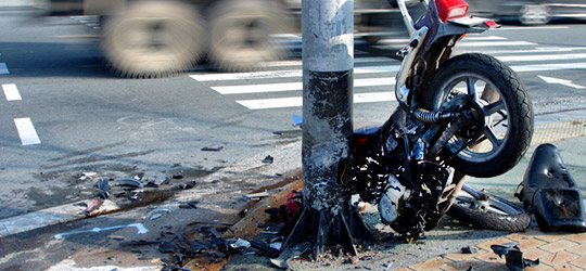 A motorcycle crashed into pole. California motorcycle accident attorney Frank D. Penney explains that insurance may not cover you for all damages
